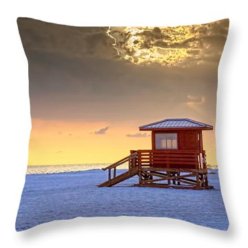 Life Guard 1 Throw Pillow by Marvin Spates