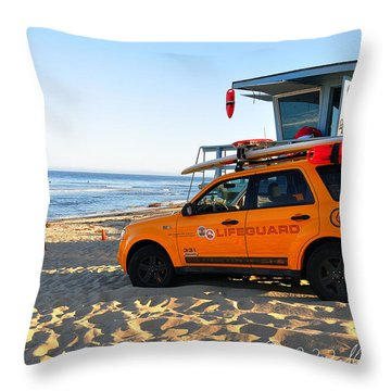 Life Guard  Throw Pillow by Gandz Photography
