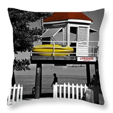 Life Guard Station Throw Pillow