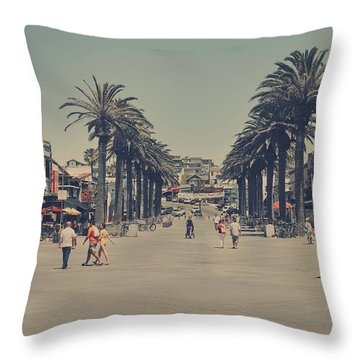 Life In A Beach Town Throw Pillow