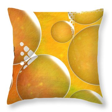 Life In A Bubble   Throw Pillow by Liane Wright