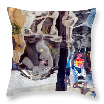 Life In A Bubble Throw Pillow