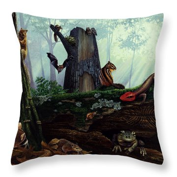 Life In A Dead Tree Throw Pillow