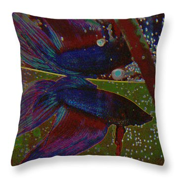 Life In A Fishbowl 1 Throw Pillow