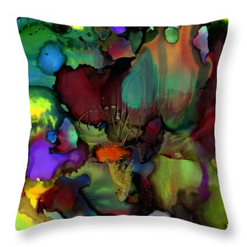 Life In Another World Throw Pillow by Angela L Walker