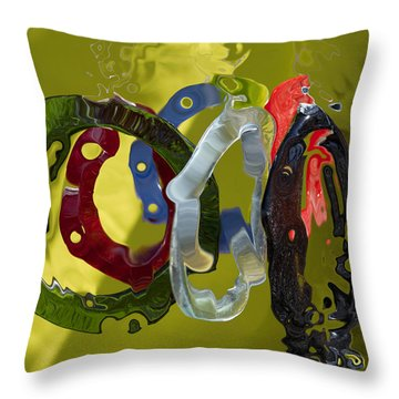 Life In Motion  Throw Pillow by Haleh Mahbod