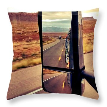 Life In My Rearview Mirror Throw Pillow