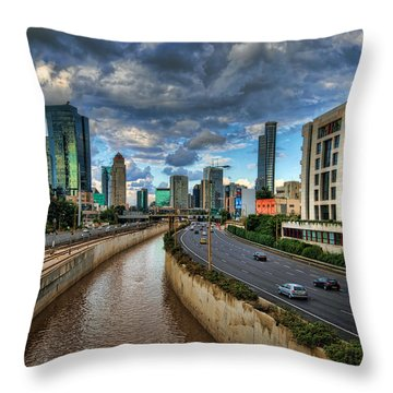 Throw Pillow featuring the photograph Life In The Fast Lane by Ronsho