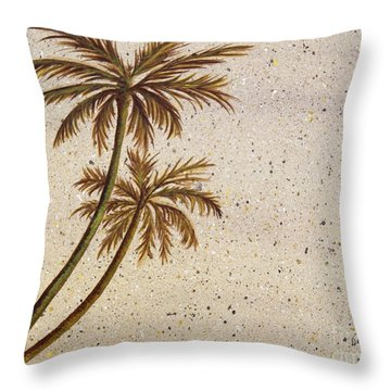 Life In The Midst Throw Pillow by Debbie Broadway