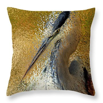 Life In The Sunshine - Bird Art Abstract Realism Throw Pillow
