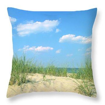 Life Is A Beach Throw Pillow by Diane Diederich