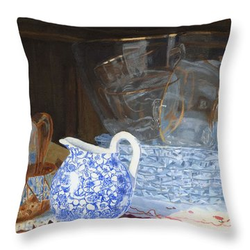 Throw Pillow featuring the painting Life Is A Carnival Glass by Lynne Reichhart