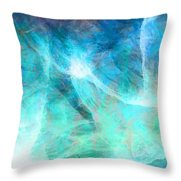 Life Is A Gift - Abstract Art Throw Pillow by Jaison Cianelli