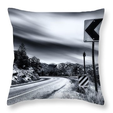 Life Is A Highway Colorado  Throw Pillow