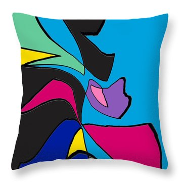 Original Abstract Art Painting Life Is Good By Rjfxx.  Throw Pillow