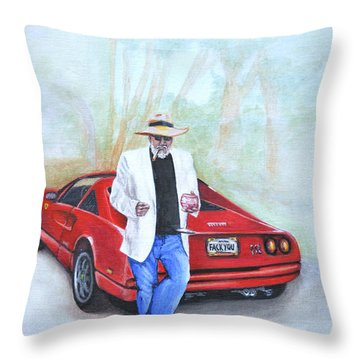 Life Is Good Throw Pillow by Victor Minca