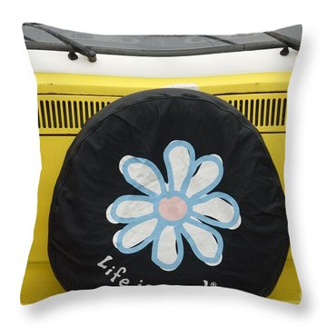 Life Is Good With Vw Throw Pillow