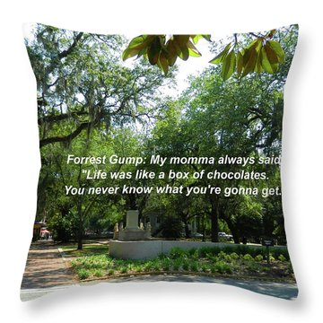 Life Is Like A Box Of Chocolates Throw Pillow