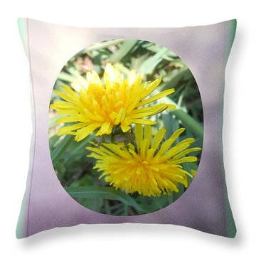Life Is Made Up Of Dandelions Throw Pillow by Patricia Keller