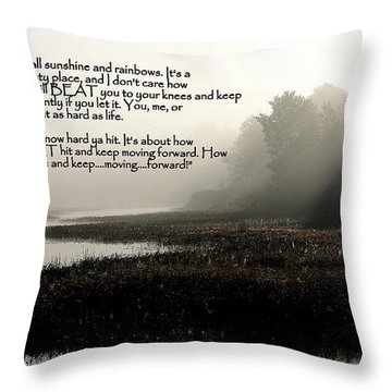 Life Lessons Throw Pillow by Greg DeBeck