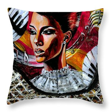 Life May Put You On Crazy Roller-coaster Rides But When Your Song Plays... Throw Pillow