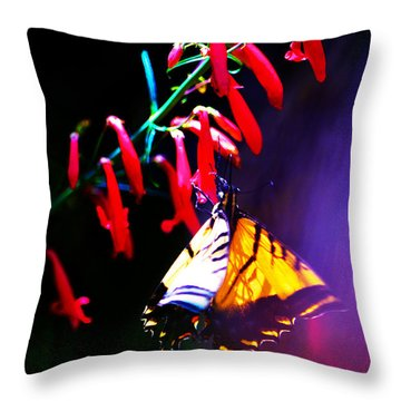 Life Of Butterfly Throw Pillow by Susanne Still