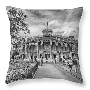 Throw Pillow featuring the photograph Life On Main Street by Howard Salmon