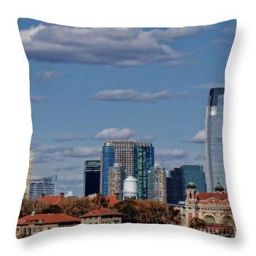 Life On New York Harbor Throw Pillow