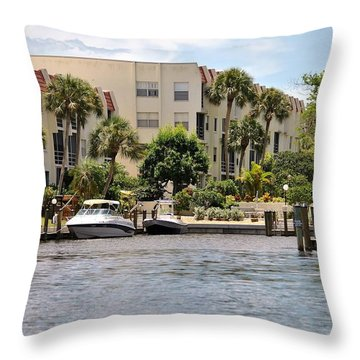 Life On The Intracoastal Throw Pillow