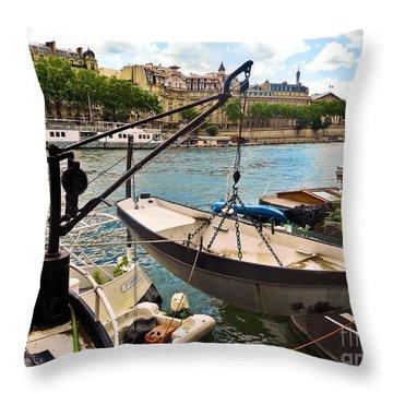 Life On The Seine Throw Pillow by Lauren Leigh Hunter Fine Art Photography