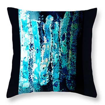 Throw Pillow featuring the digital art Life by Paula Ayers