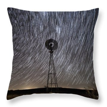 Life Stands Stilll In Rural West Texas Throw Pillow