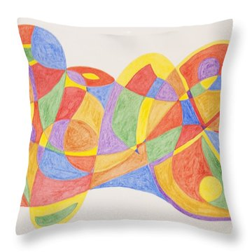 Throw Pillow featuring the painting Graffiti Life  by Stormm Bradshaw