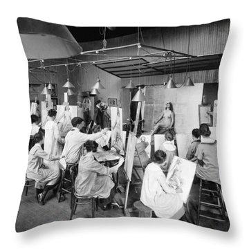 Life Studies At Art School Throw Pillow
