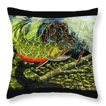 Life Under The Brook Throw Pillow