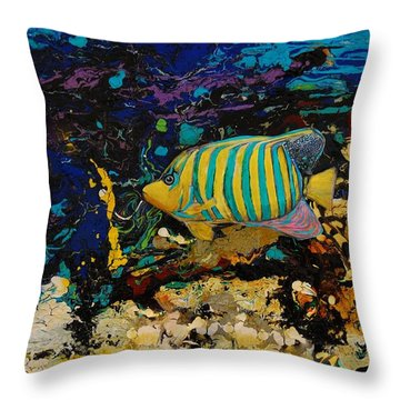 Life Underwater Throw Pillow by Jean Cormier
