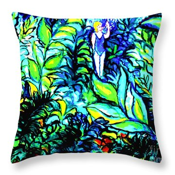 Life Without Filters Throw Pillow by Hazel Holland