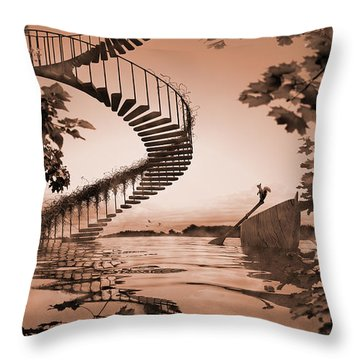 Life Without Stairs Throw Pillow