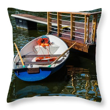Lifeboat On Duty - Featured 3 Throw Pillow by Alexander Senin
