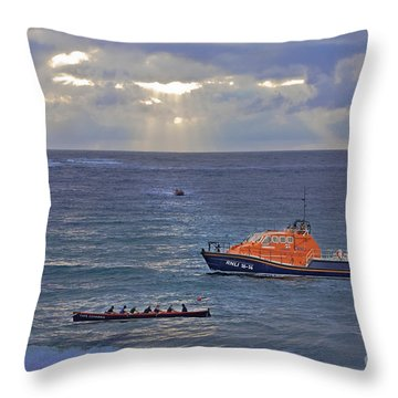 Lifeboats And A Gig Throw Pillow