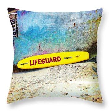 Lifeguard At Rest Throw Pillow