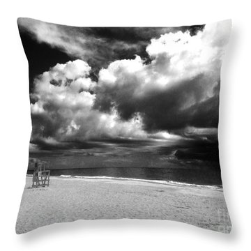 Lifeguard Chair Clouds Throw Pillow