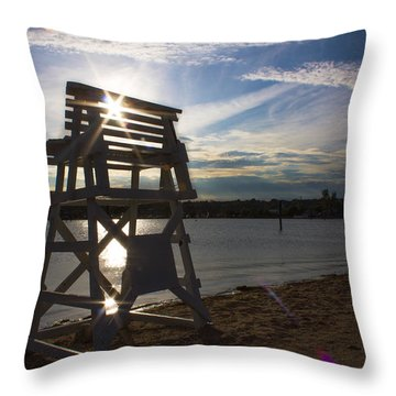 Lifeguard Stand Silhouette  Throw Pillow