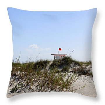 Lifeguard Station Throw Pillow by Chris Thomas