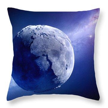 Lifeless Earth Throw Pillow