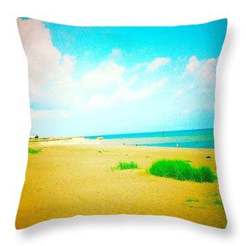 Life's A #beach. #ingoldmells #sea Throw Pillow