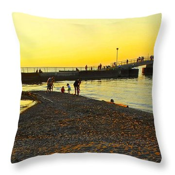 Lifes A Beach Throw Pillow by Frozen in Time Fine Art Photography
