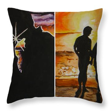 Throw Pillow featuring the painting Life's A Beach by Tamir Barkan