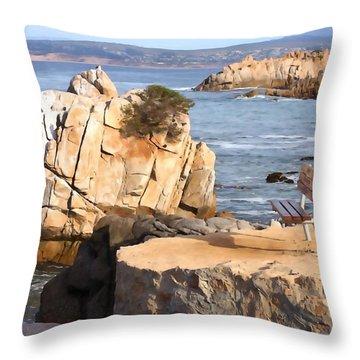 Life's A Bench Throw Pillow