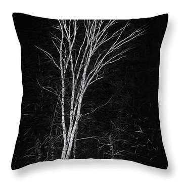 Life's A Birch No.2 Throw Pillow by Mark Myhaver
